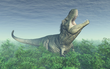 Tyrannosaurus Rex im Regenwald