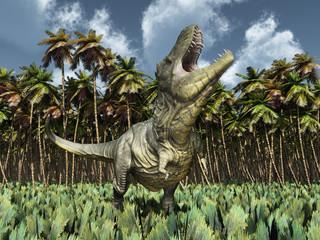 Tyrannosaurus Rex im Urwald