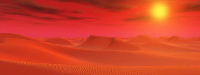 Sandwüste in einer fernen Welt