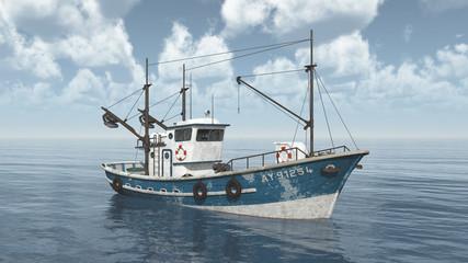 Fischkutter im offenen Meer