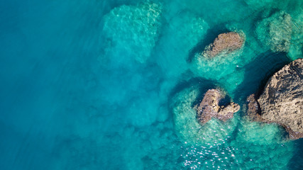Poster Mer / Ocean Aerial view on the sea. Beautiful natural seascape at the summer time