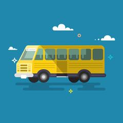 Bus. Flat design.