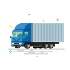 Truck delivery vector illustration.