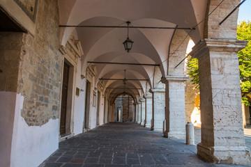 Scorci della città di Cingoli, Macerata, Marche, Italia
