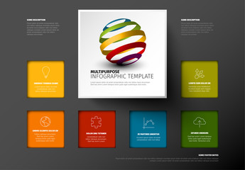 Vector Minimalist colorful Infographic template