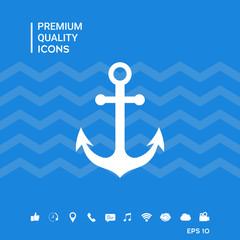 Anchor icon symbol