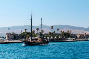 Kos island harbor in Greece