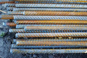 Reinforcing bars made of steel