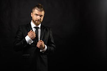 Portrait of handsome stylish man