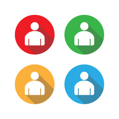 People Icon. User sign icon. Vector illustration, flat design.