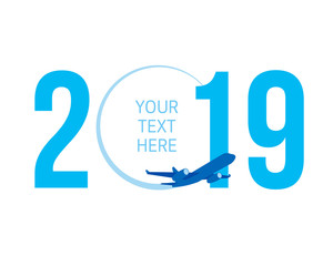 New Year concept - airplane