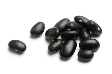 black beans isolated on white