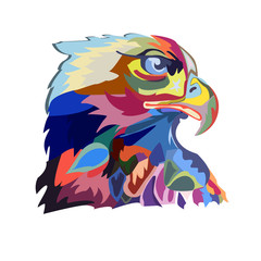 Abstract image of an eagle, a symbol of the United States
