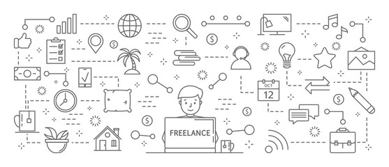 Freelance icons set.