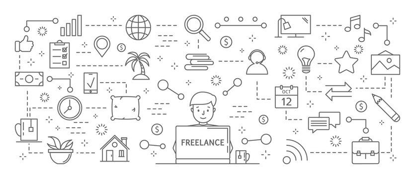 Freelance icons set.