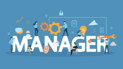 Manager concept illustration.
