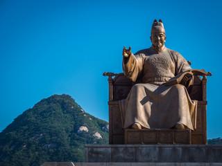 Statue of King Sejong the Great - Gwanghwamun Square Seoul, Korea