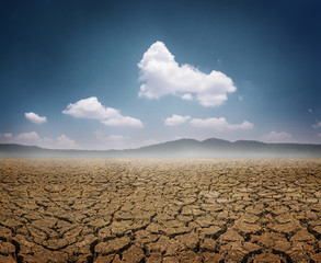 Dry land a concept for global warming