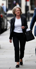 The leader of Kensington and Chelsea Council, Elizabeth Campbell, arrives for a commemoration hearing at the opening of the inquiry into the Grenfell Tower disaster, in London