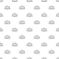 Lotus flower pattern vector seamless repeating for any web design