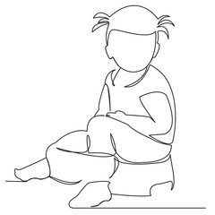 the child is sitting on a pot