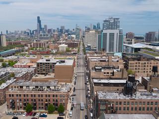 Chicago South Loop Aerial