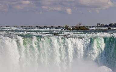 Isolated photo of a powerful Niagara waterfall