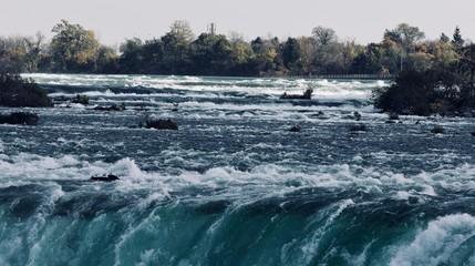 Postcard with an amazing Niagara waterfall