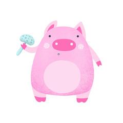 Pink Cartoon Pig