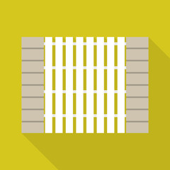 Stone wood fence icon. Flat illustration of stone wood fence vector icon for web design