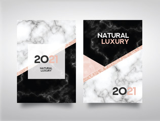 Marble Abstract Background Book Cover Design Template