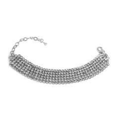 Fashion silver bracelet isolated on white