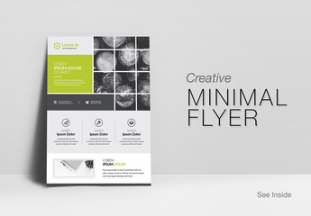 Business Flyer Layout with Sectioned Photo Elements