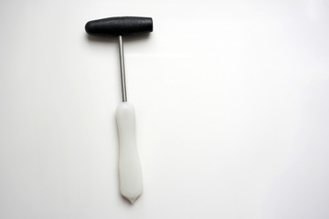 reflex hammer on white background