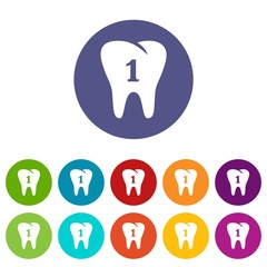 First tooth icon. Simple illustration of first tooth vector icon for web