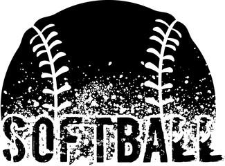 Softball Grunge