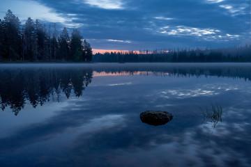 Oderteich zum Sonnenaufgang