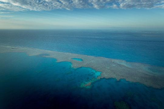 Great Barrier Reef, Queensland, Australia. Aerial View