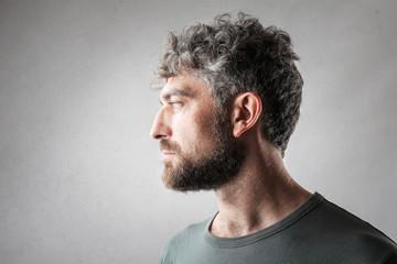 Profile of handsome man Fototapete