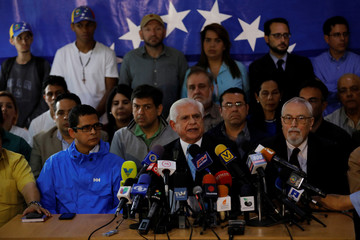 Omar Barboza, president of the National Assembly and member of Frente Amplio Venezuela Libre, speaks to the media a day after the national election in Caracas