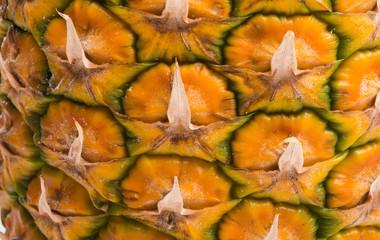 texture of ripe pineapple