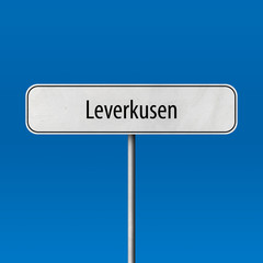 Leverkusen Town sign - place-name sign