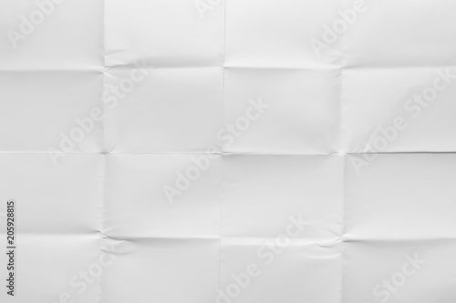 Empty sheet folded in sixteen, white glossy paper