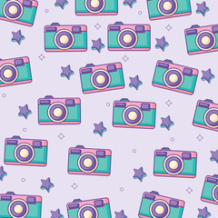 background of photographic cameras pattern, vector illustration