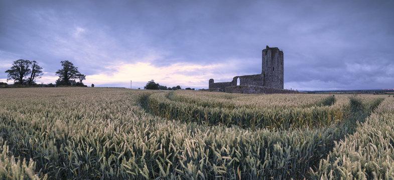 Panoramic of Baldongan Castle, Skerries, County Dublin, Ireland
