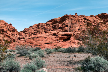 Landscape Of Sandstone Formation At Valley Of Fire, USA