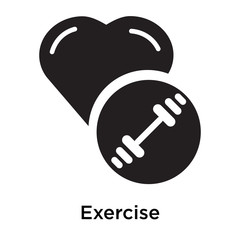 Exercise icon vector sign and symbol isolated on white background