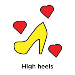 High heels icon vector sign and symbol isolated on white background