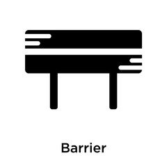 Barrier icon vector sign and symbol isolated on white background