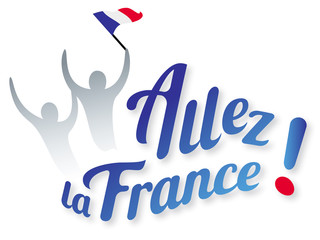 ALLEZ LA FRANCE avec supporters